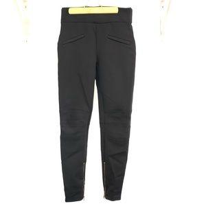Zara leggings, PDR fabric with biker styling
